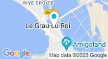 Plan Carte Piscine Aqua Camargue au Grau du Roi