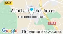 Plan Carte Piscine de plein air à Tavel