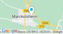 Plan Carte Centre Nautique Aquaried - Piscine de Marckolsheim