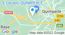Plan Carte Piscine Aquapaq de Kergoaler à Quimperlé