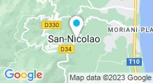 Plan Carte Piscine naturelle du Bucatoghju à San-Nicolao