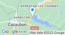 Plan Carte Base de loisirs de Luby à Barbotan-Cazaubon
