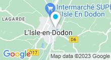 Plan Carte Base de loisirs à l'Isle en Dodon