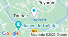 Plan Carte Base de loisirs à Tauriac