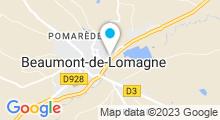 Plan Carte Piscine Le Lomagnol à Beaumont de Lomagne