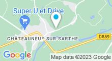 Plan Carte Piscine à Chateauneuf sur Sarthe