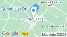 Plan Carte Piscine du Layon à Thouarcé