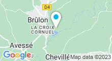 Plan Carte Base de loisirs Brûlon