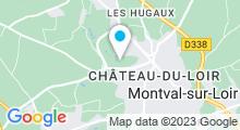 Plan Carte Centre aquatique Plouf - Piscine à Château du Loir