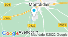 Plan Carte Piscine Alex Gobin à Montdidier