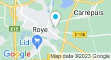Plan Carte Piscine l'Arobase à Roye