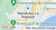 Plan Carte Piscine à Mandelieu la Napoule