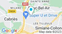 Plan Carte Piscine Guy Drut à Bouc Bel Air