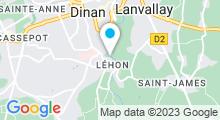 Plan Carte Piscine des Pommiers à Lehon