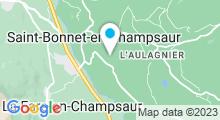 Plan Carte Centre aquatique intercommunal du Champsaur Valgaudemar - Piscine de Saint Bonnet en Champsaur