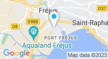 Plan Carte Piscine Maurice Giuge à Fréjus