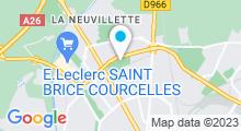 Plan Carte Piscine Orgeval à Reims