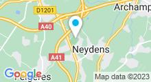 Plan Carte Centre aquatique Vitam - Piscine à Neydens