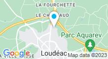 Plan Carte Piscine les Aquatides à Loudeac