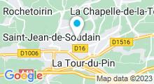 Plan Carte Centre nautique des Vals du Dauphiné à La Tour-du-Pin