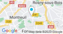 Plan Carte Piscine écologique des murs à pêches à Montreuil