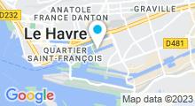 Plan Carte Piscine les Bains des Docks au Havre