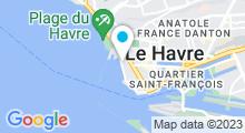 Plan Carte Piscine de la Plage - Club Nautique Havrais au Havre
