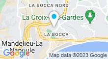Plan Carte Centre aquatique Grand Bleu - Piscine à Cannes