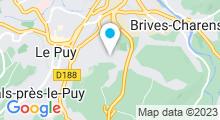 """Plan Carte Piscine et centre aqualudique """"La Vague"""" du Puy-en-Velay"""