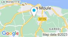 Plan Carte Piscine Robert Geoffroy à Moule en Guadeloupe