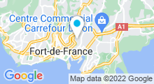 Plan Carte Piscine Jean Bally au Carbet (Martinique)