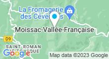Plan Carte Piscine d'Arbousses à Moissac-Vallée-Française
