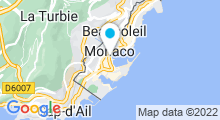 Plan Carte Piscine du stade Nautique Rainier III à Monaco