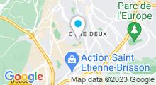 Plan Carte Piscine de la Cotonne - Pierre Poty à Saint Etienne