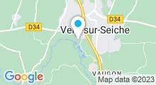 Plan Carte Plan d'eau de La Vallée de la Seiche à Vern-sur-Seiche
