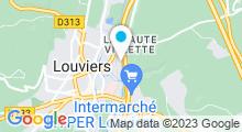 Plan Carte Piscine Caséo à Louviers