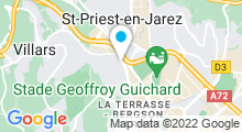 Plan Carte Piscine Grouchy à Saint Etienne