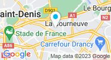 Plan Carte Plage de La Courneuve