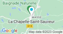 Plan Carte Piscine naturelle à La Chapelle Saint-Sauveur
