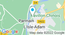 Plan Carte Piscine de Parmain à L'Isle-Adam