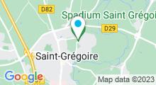 Plan Carte Piscine de la Ricoquais à Saint-Grégoire