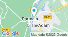 Plan Carte Plage de L'Isle-Adam
