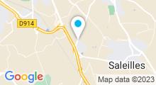Plan Carte Centre aquatique Calicéo - Piscine à Perpignan - Saleilles