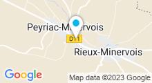 Plan Carte Centre aquatique Les Bains de Minerve - Piscine à Peyriac-Minervois