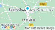 Plan Carte Piscine Jean Taris à Sainte-Suzanne