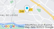 Plan Carte Centre aquatique Les Grands Bains - Piscine à Herblay