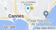 Plan Carte Piscine Montfleury à Cannes