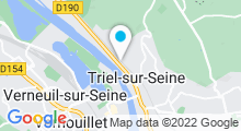 Plan Carte Piscine Les Eaux Vives à Triel-sur-Seine