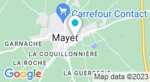 Plan Carte Centre Aquagym - piscine à Mayet