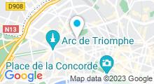 Plan Carte Piscine Jacqueline Auriol ex Beaujon à Paris (8e)